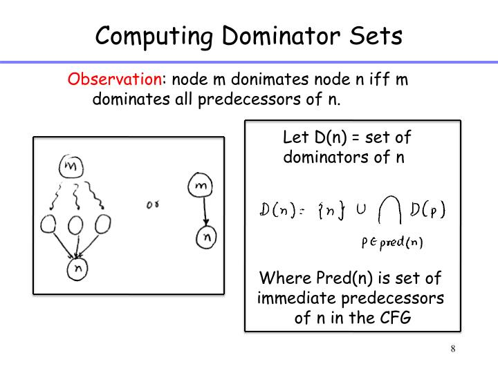 Computing Dominator Sets