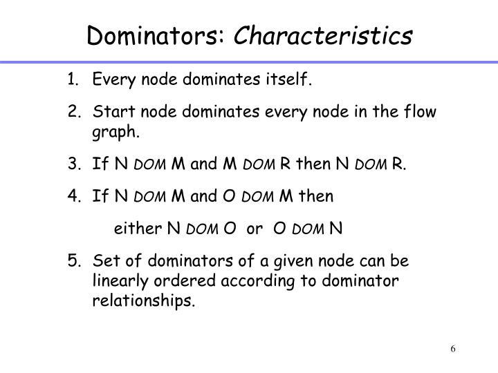 Dominators: