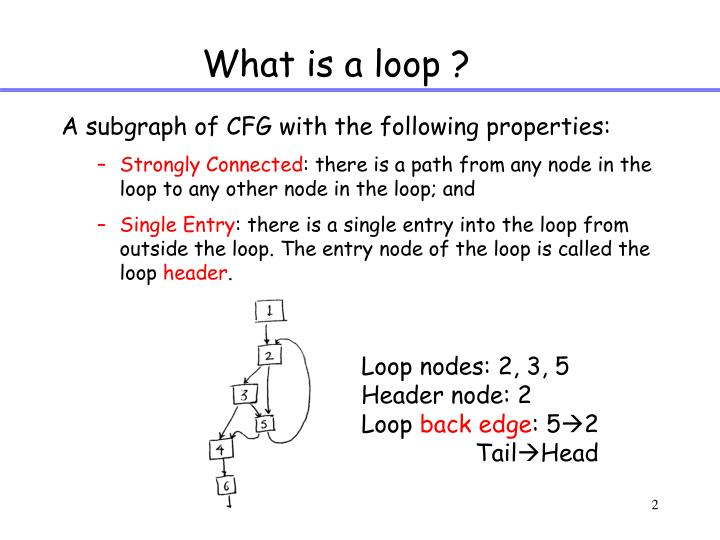 What is a loop ?