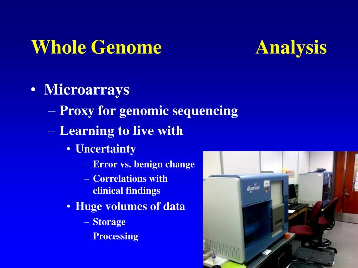 Whole Genome                   Analysis