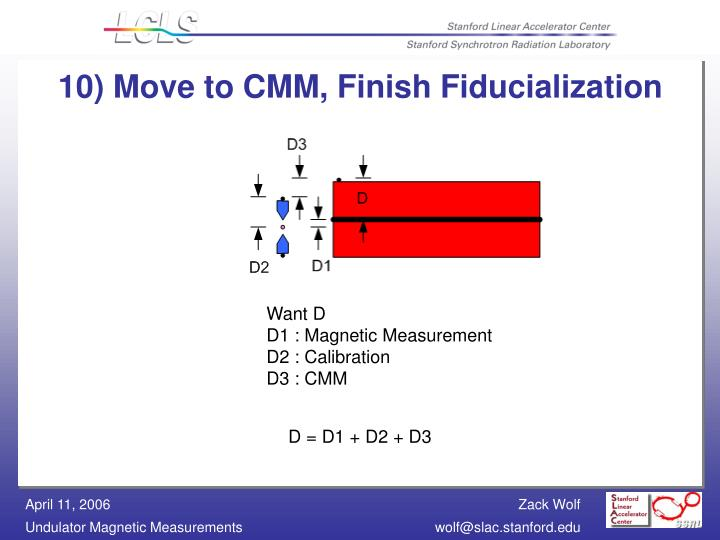 10) Move to CMM, Finish Fiducialization