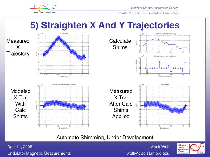 5) Straighten X And Y Trajectories