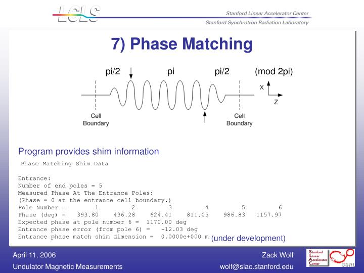 7) Phase Matching