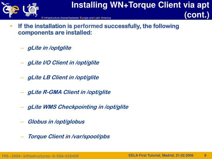 Installing WN+Torque Client via apt (cont.)