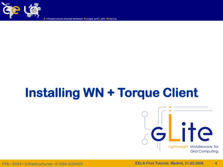 Installing WN + Torque Client