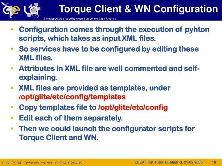 Torque Client & WN Configuration