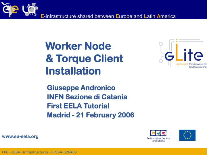 Worker node torque client installation