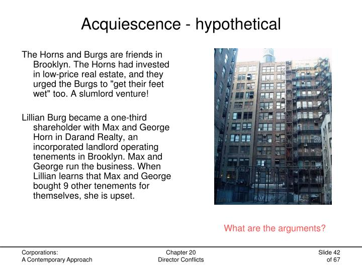 Acquiescence - hypothetical