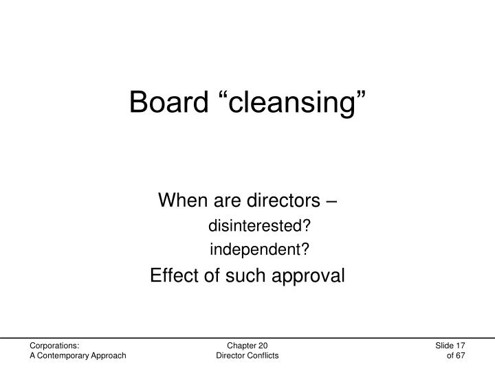 "Board ""cleansing"""