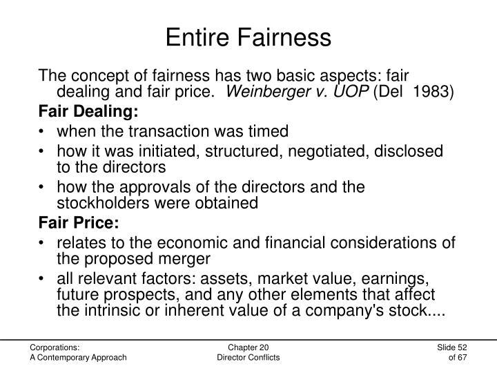 Entire Fairness