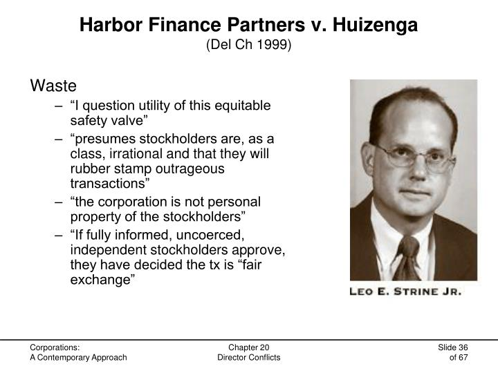 Harbor Finance Partners v. Huizenga