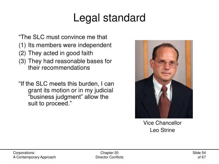 Legal standard
