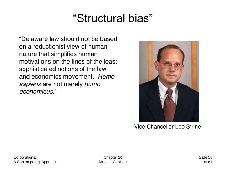 """Structural bias"""