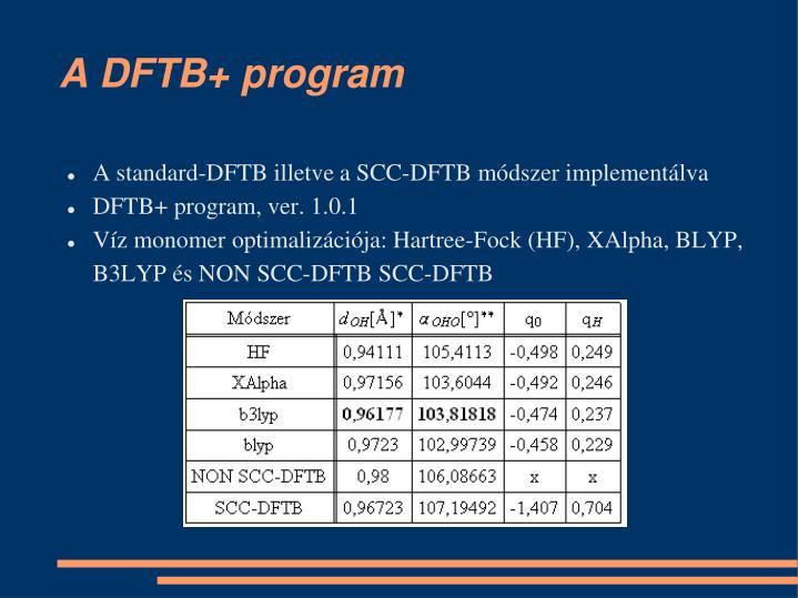 A DFTB+ program