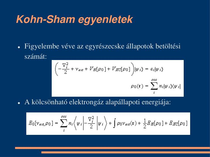 Kohn-Sham egyenletek