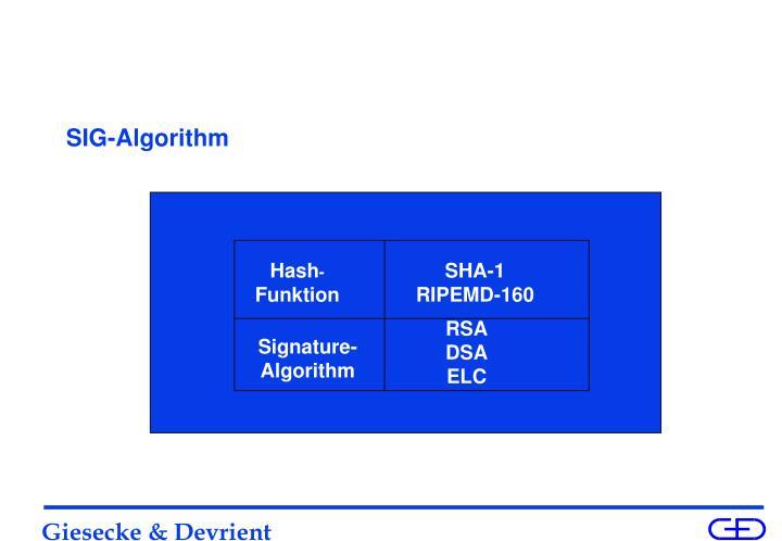 SIG-Algorithm