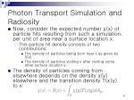 photon transport simulation and radiosity10