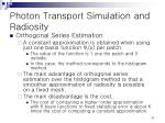 photon transport simulation and radiosity18