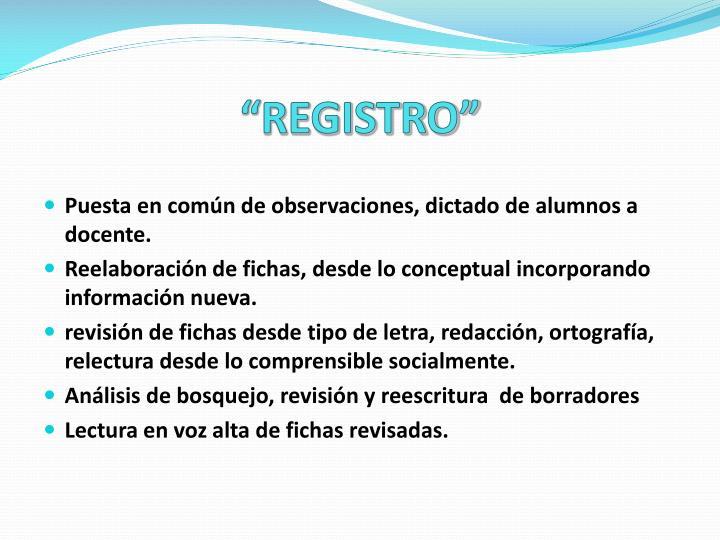 """""""REGISTRO"""""""