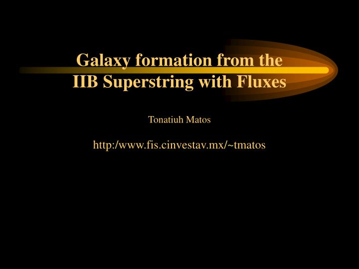 Galaxy formation from the