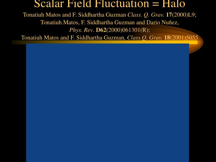 Scalar Field Fluctuation = Halo