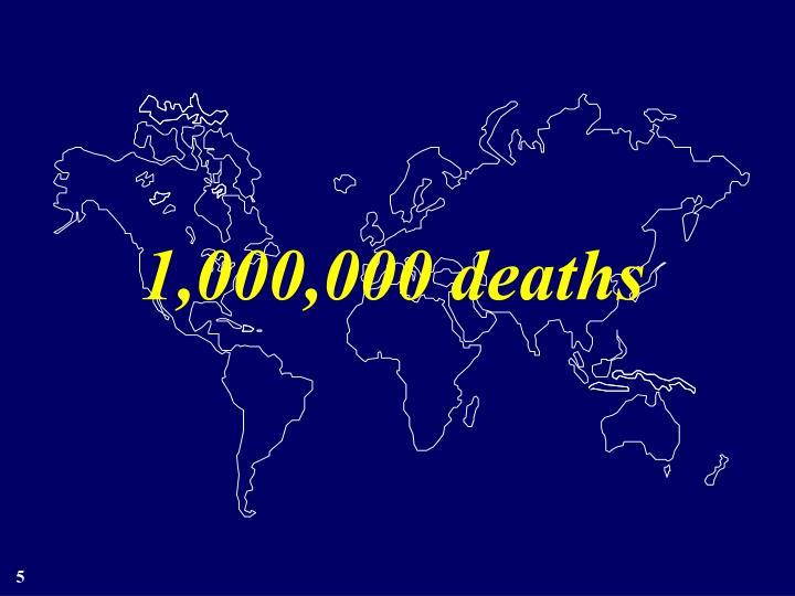 1,000,000 deaths