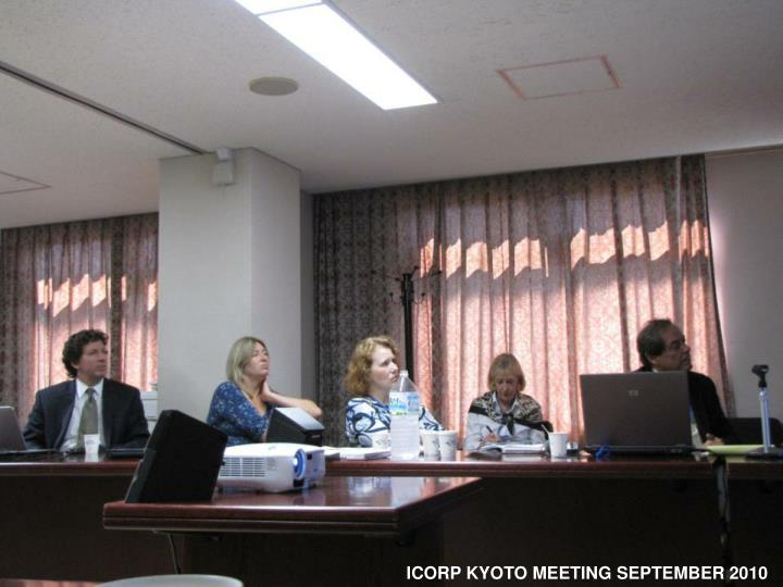 ICORP KYOTO MEETING SEPTEMBER 2010