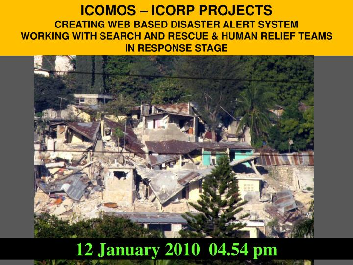 ICOMOS – ICORP PROJECTS