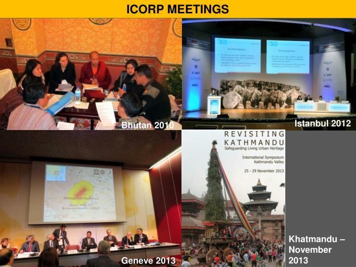 ICORP MEETINGS