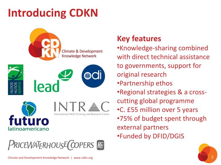 Introducing CDKN