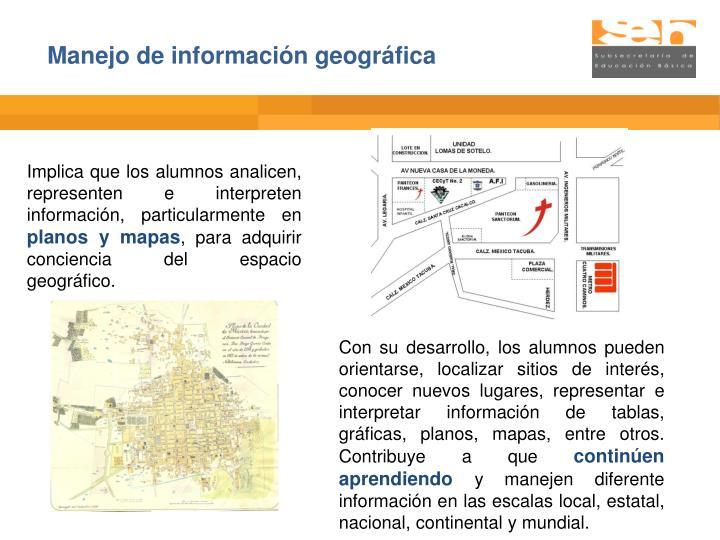 Manejo de información geográfica