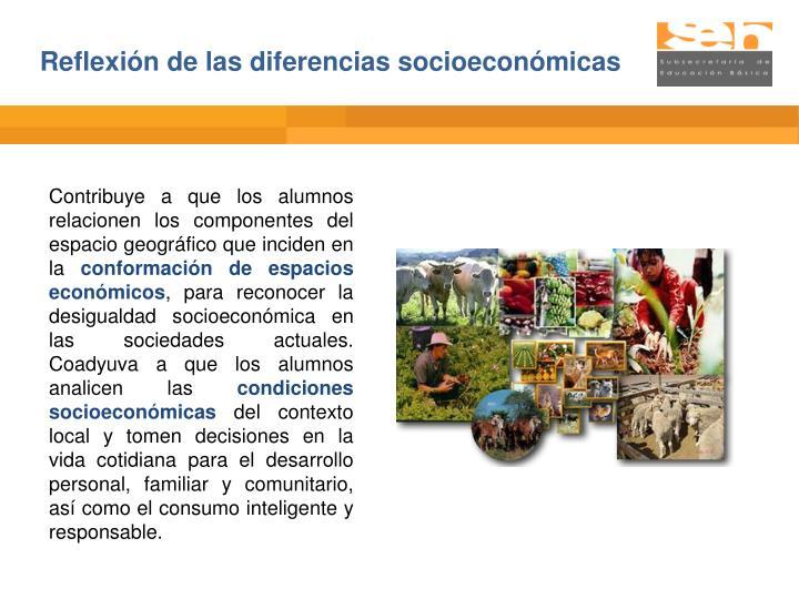 Reflexión de las diferencias socioeconómicas