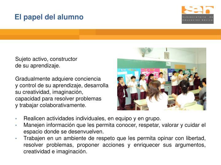 El papel del alumno
