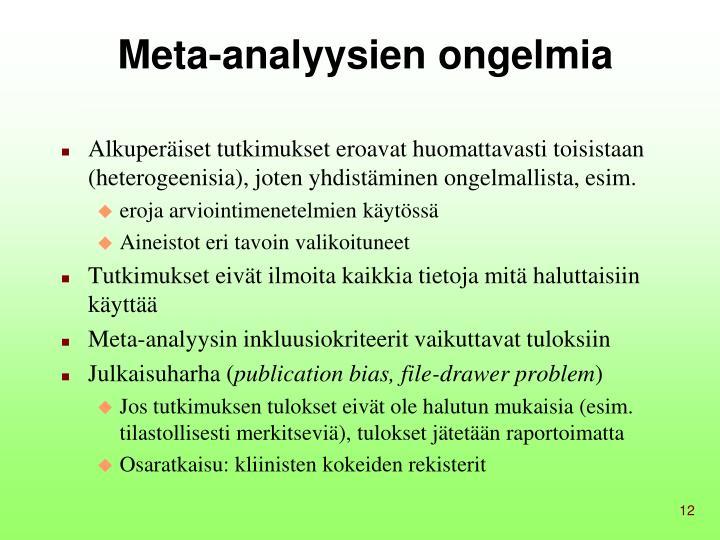 Meta-analyysien ongelmia