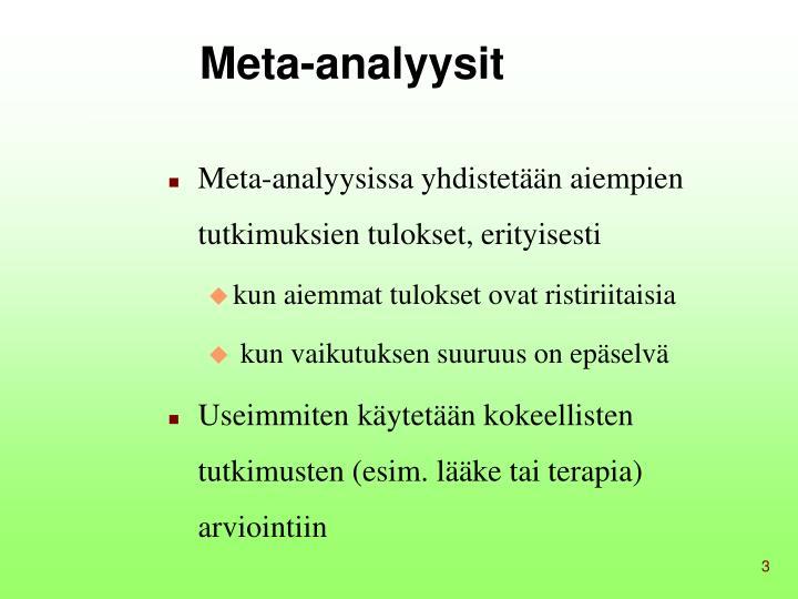 Meta-analyysit