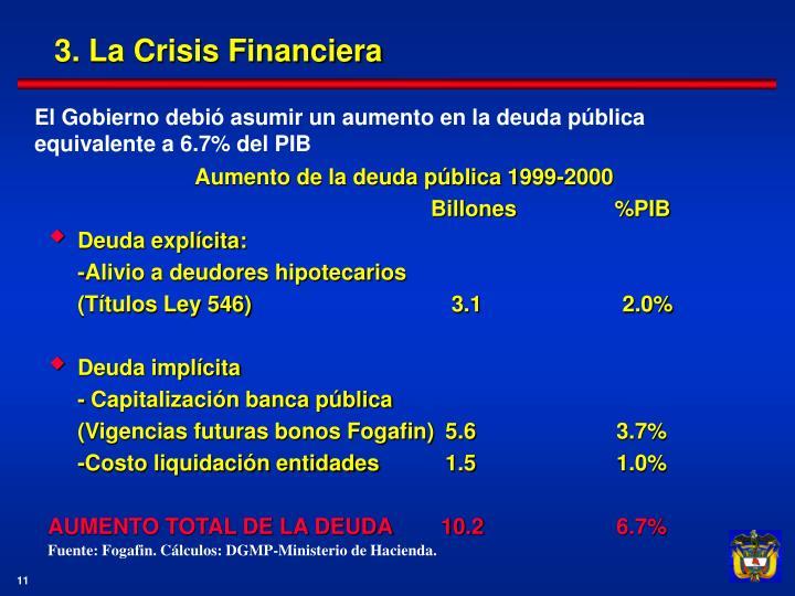 3. La Crisis Financiera