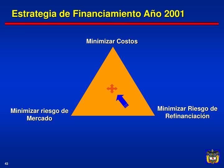 Estrategia de Financiamiento Año 2001