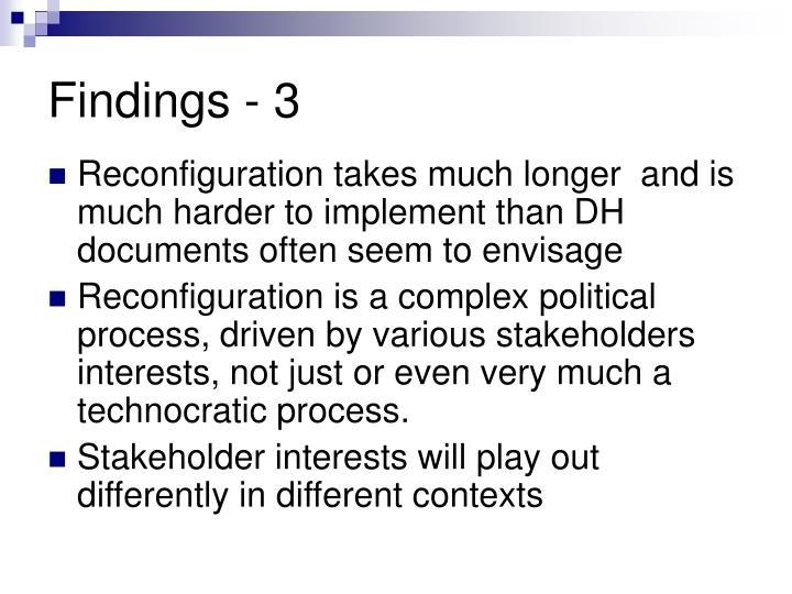 Findings - 3