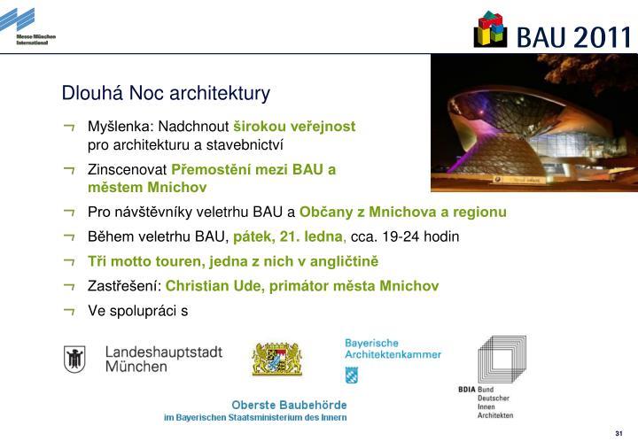Dlouhá Noc architektury