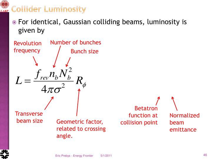 Collider Luminosity