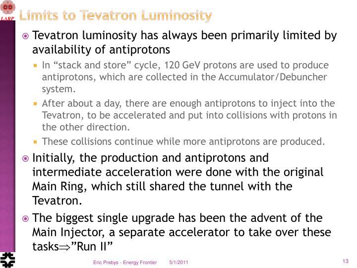 Limits to Tevatron Luminosity