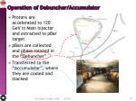 operation of debuncher accumulator
