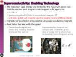 superconductivity enabling technology