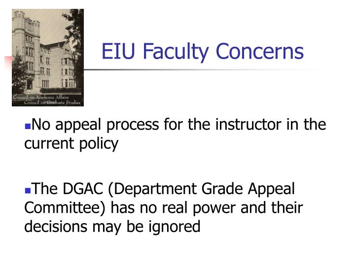 EIU Faculty Concerns