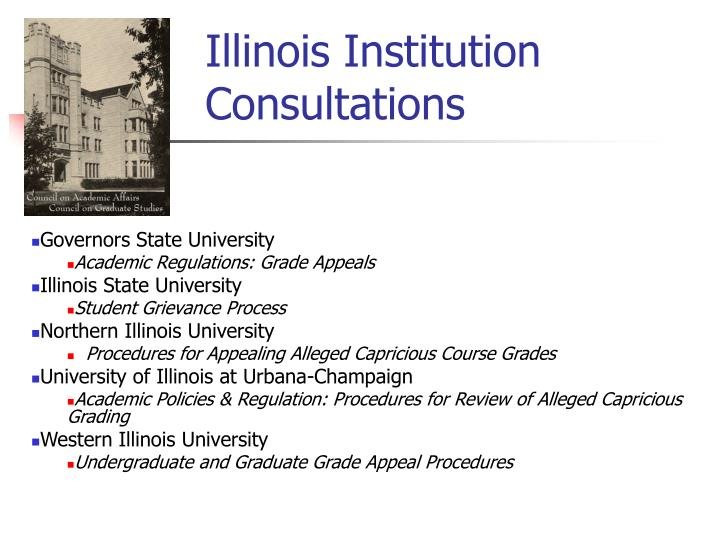 Illinois Institution Consultations