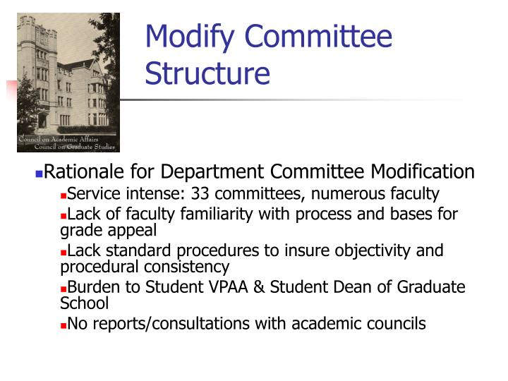 Modify Committee Structure