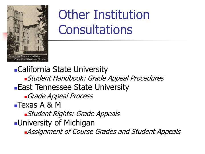 Other Institution Consultations