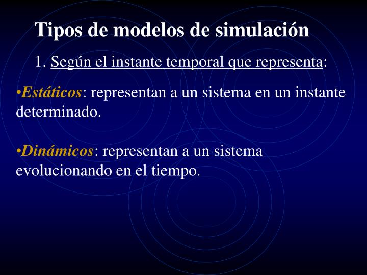 Tipos de modelos de simulación