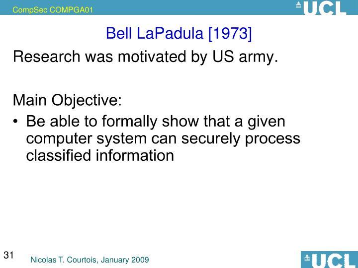 Bell LaPadula [1973]