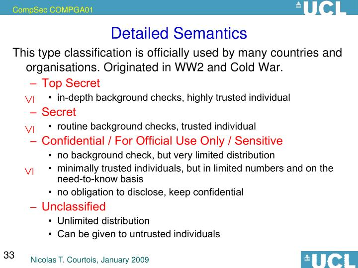 Detailed Semantics